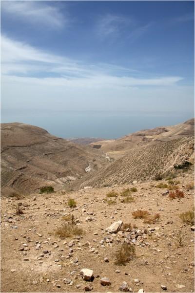 Мукавир, вид на Мёртвое море