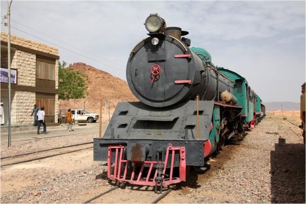 Железнодорожный состав на станции «Вади-Рам»