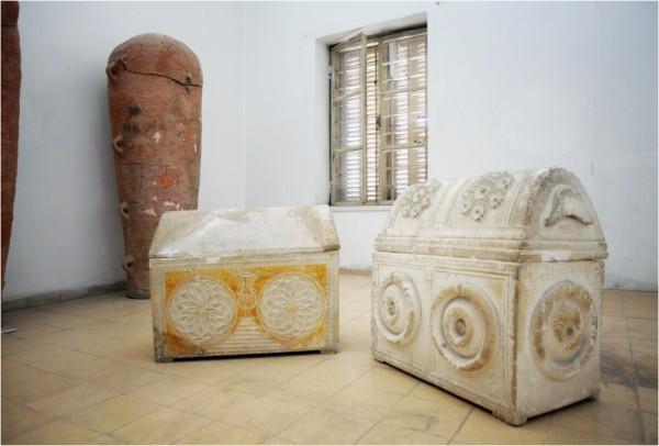 Экспонаты Национального археологического музея Аммана