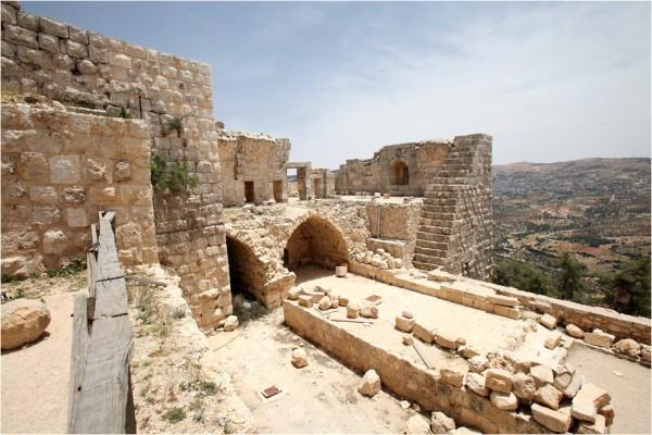 Аджлунский замок. Фрагмент крепостной стены