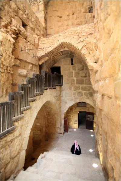 Замок в Аджлуне. Внутренняя лестница