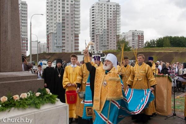 В Минске открыли памятник преподобному Сергию Радонежскому (+ФОТО)