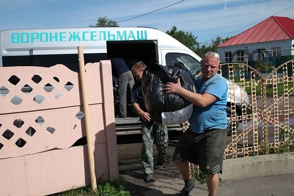 Партия гуманитарного груза из Новоспасского монастыря доставлена беженцам с Юго-Востока Украины