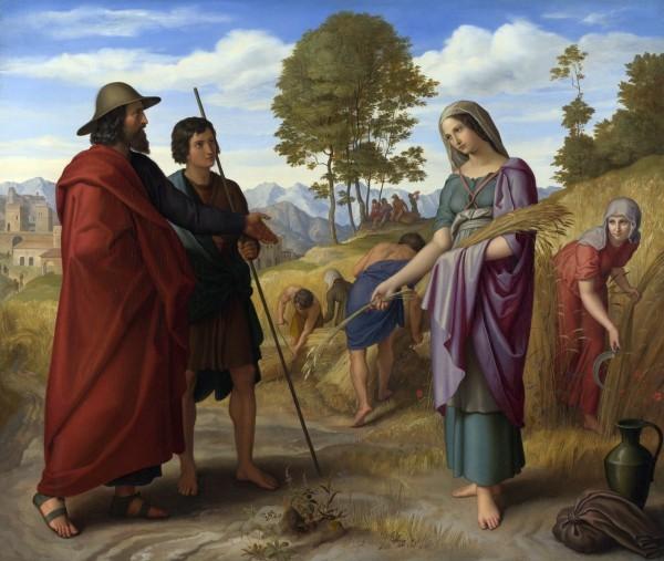 Юлиус Шнорр (Julius Schnorr). Руфь на поле Вооза.