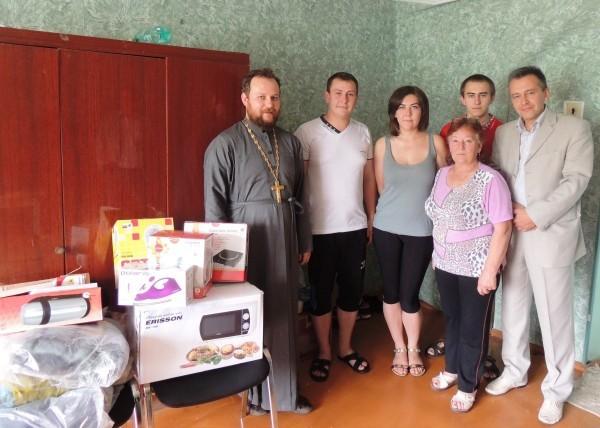 Хабаровская епархия помогла первой семье беженцев с Донбасса