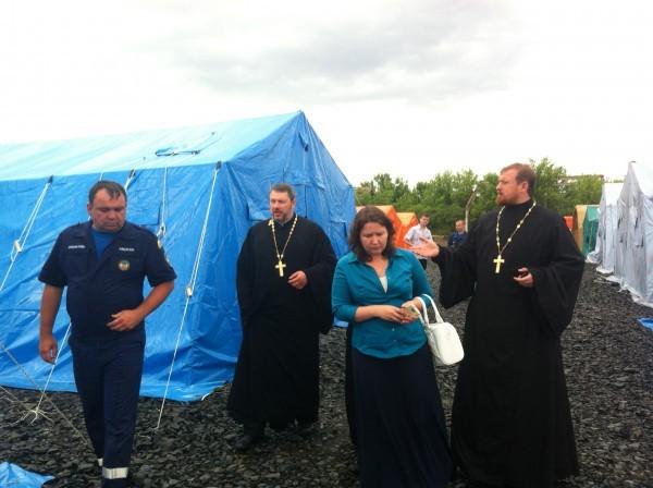 Сотрудники Синодального отдела по благотворительности посетили пункты временного размещения мирных жителей Украины