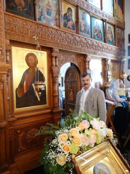 Сергей Алексеевич Веремеенко в храме святителя Алексия