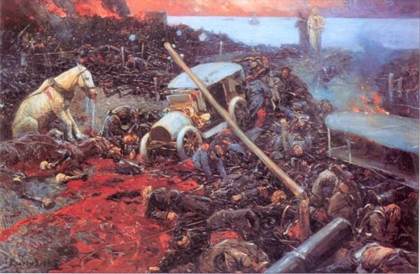 Рубо. Данте и Вергилий в окопе. Первая мировая война. 1915