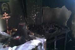 В Киеве подожгли храм Воскресения Христова