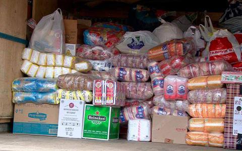 В Киеве организовали склады для сбора гуманитарной помощи мирным жителям
