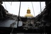 Луганский храм прп.Сергия Радонежского в престольный праздник пострадал от артобстрела