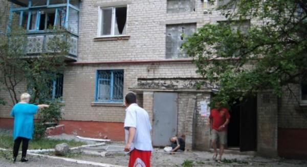 Один из домов недалеко от аэропорта Донецка