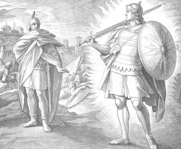 Юлиус Шнорр фон Карольсфельд. Иисус Навин и воин Господень