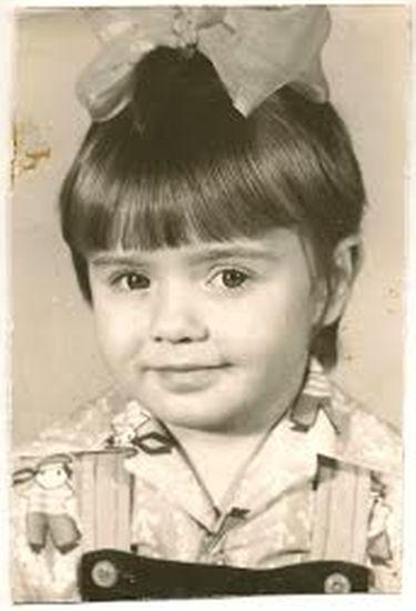 Ольга Синяева в детстве