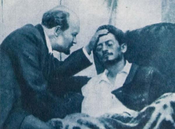 Ленин навещает больного Свердлова