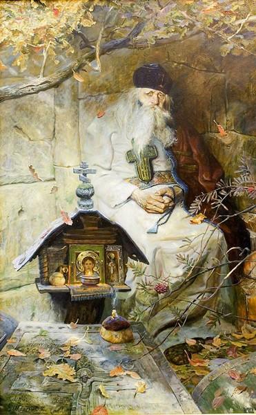 Молитва. 2001 г. Холст, масло.