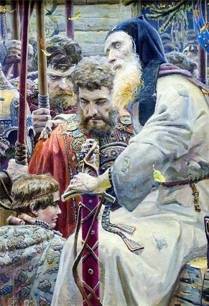 Благословение Сергия. 2005 г. Холст, масло.