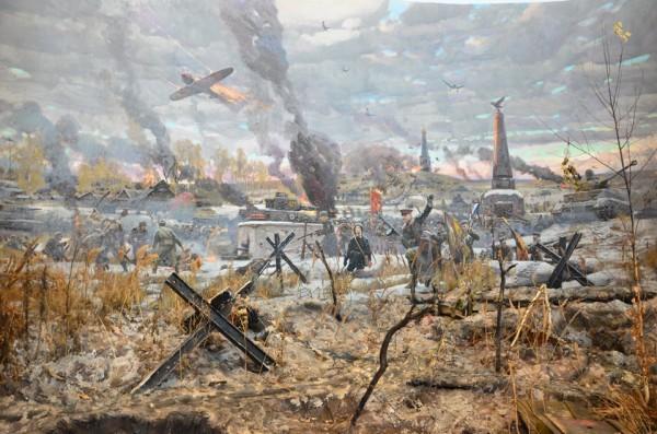 Битва под Москвой. 1941 год. 2011 г. Холст, масло, предметный план.