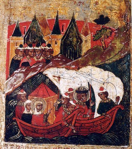 Возвращение Петра и Февронии в Муром и их благочестивое правление