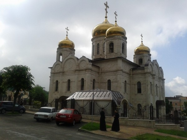 Пятигорск. Отстроенный заново Спасский кафедральный собор