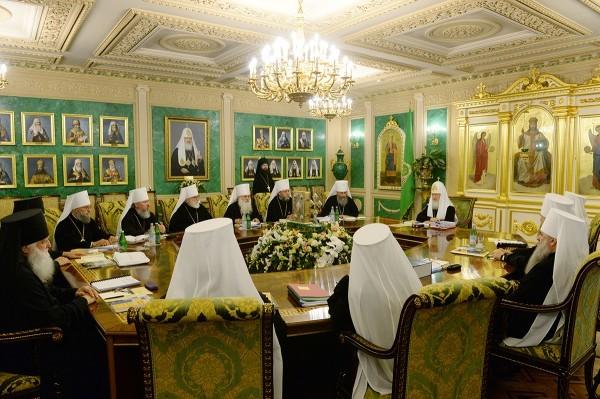 В Москве начал заседание Священный Синод Русской Православной Церкви