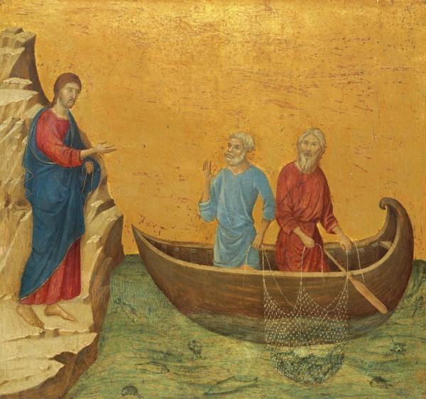 Дуччо ди Буонинсенья. Призвание апостолов Петра и Андрея