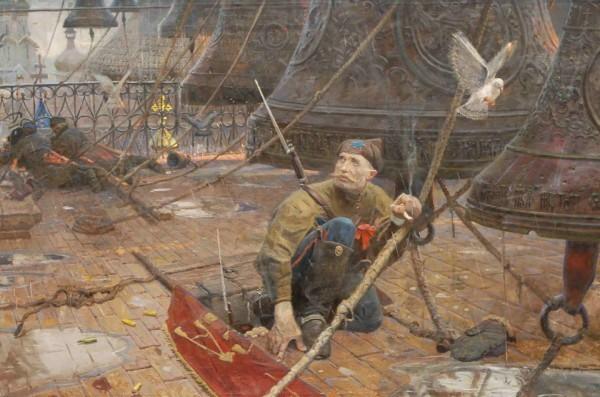 Удар колокола (№1 из Триптиха «Покаяние»). 2004 г. Холст, масло, Павел Рыженко
