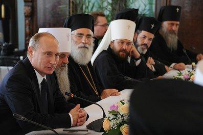 Стенограмма встречи Владимира Путина с членами Священного Синода и представителями поместных Православных Церквей