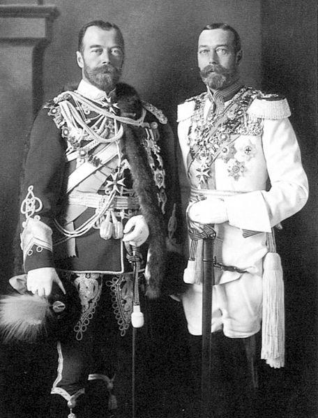 С королем Георгом V