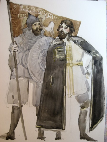 Князь Дмитрий Михайлович Пожарский и Кузьма Минин