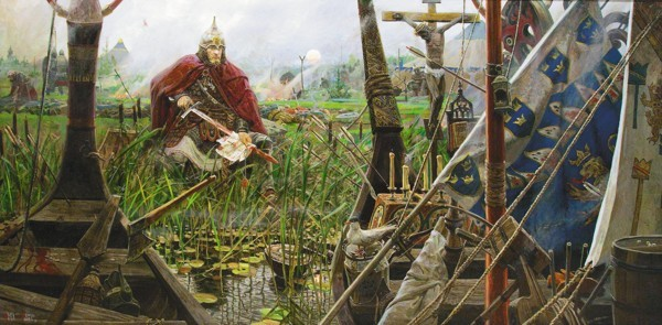 Фрагмент триптиха «Солнце земли Русской». Невская битва