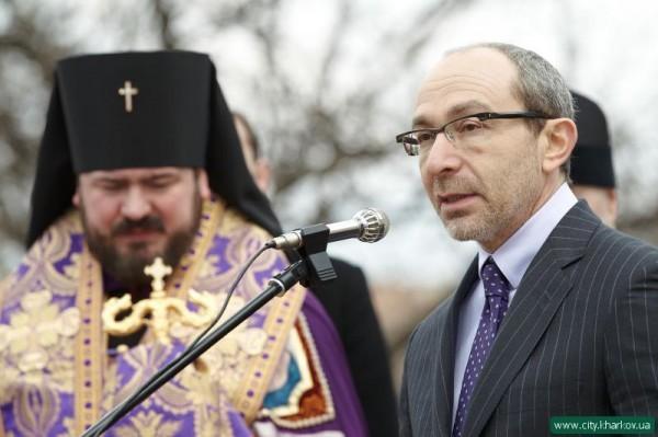 Харьковская епархия молится о здравии мэра Харькова Геннадия Кернеса