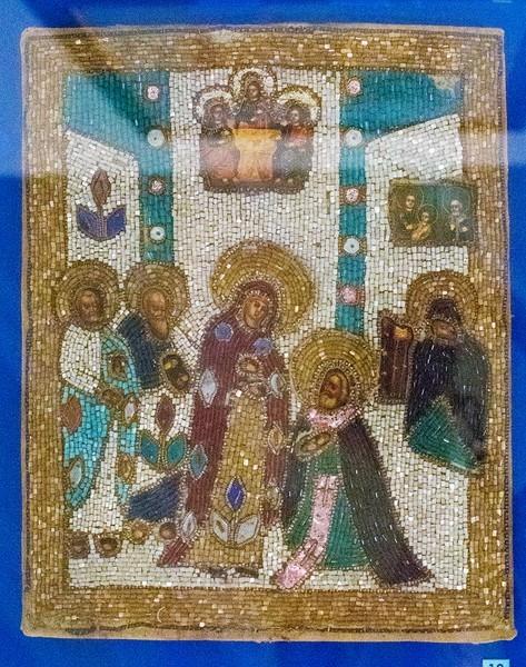 Икона «Явление Богородицы преподобному Сергию. XIX век.
