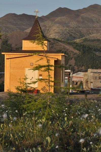 Храм преподобного Сергия - вид из лесотундры
