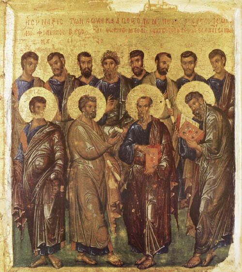 Церковь отмечает собор святых славных и всехвальных 12-ти Апостолов Христовых