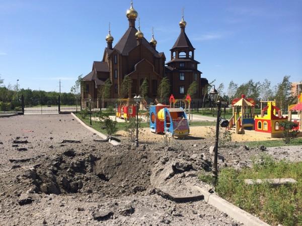 Горловка вновь обстреляна, снаряды разорвались возле храма (+Видео)