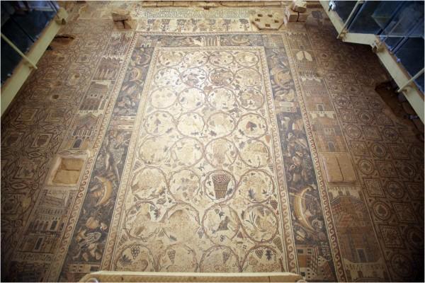 Ум-ар-Расас, центральная часть мозаики храма св. Стефана