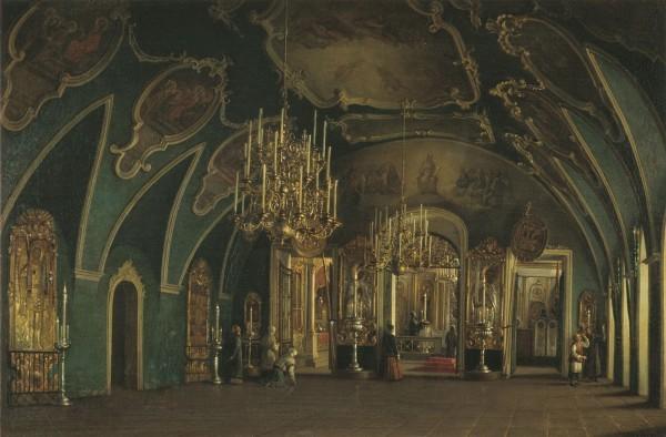 Степан Шухвостов (1821-1908) «Внутренний вид Алексеевской церкви Чудова монастыря в Московском Кремле» 1866