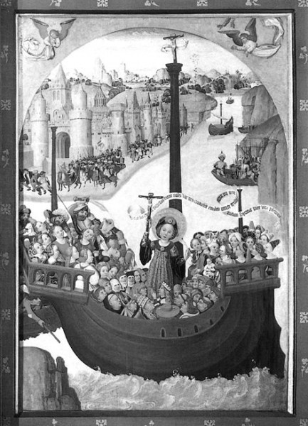 Кораблик святой Урсулы. Аббатство Лихтенталь, кон. XV в.