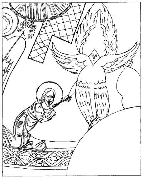 Очищение уст пророка Исайи. Фрагмент алтарной росписи.  Церковь Трех Крестов в Каппадокии. IX–X вв.