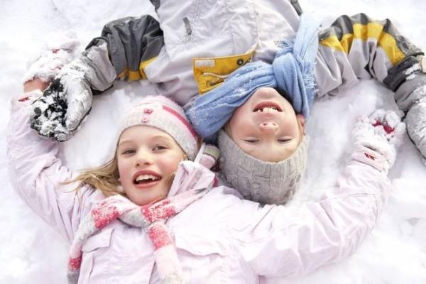 dzieci-w-zimie