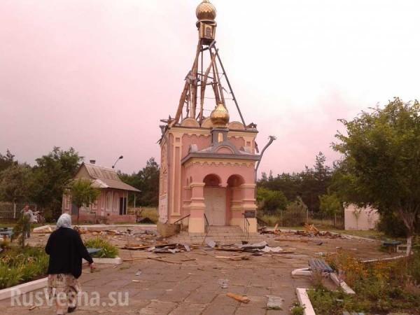 В Краснодоне под обстрел попала церковь, построенная в честь 80 погибших шахтеров