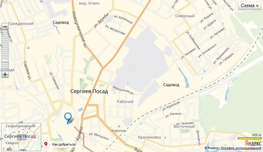 Троице-Сергиева Лавра. Схема проезда
