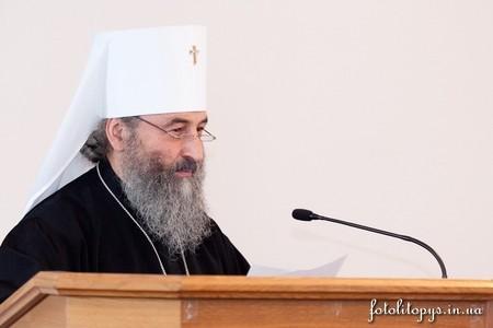 Митрополит Онуфрий осудил клевету на канале «1+1»