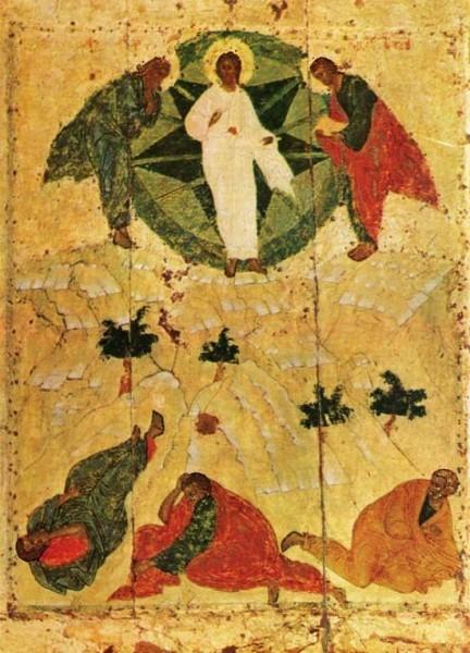 Андрей Рублев (приписывается). Праздничный ряд- Преображение. Икона, XV в