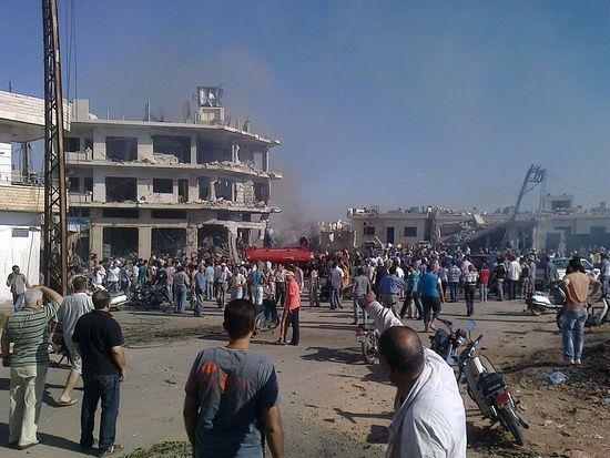 В центре Сирии джихадисты ведут обстрел христианской деревни