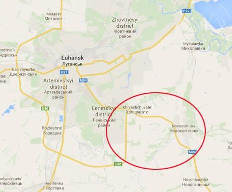 Под Луганском расстреляна колонна беженцев