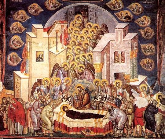 Богородица Перивлепта в Охриде. 1294, Мих и Евтихий