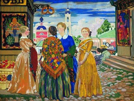 Кустодиев. Купчихи, 1912