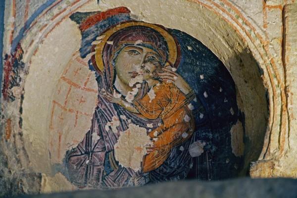 Фреска церкви Токали килисе в Гёреме. X в. Каппадокия, Турция Читаем икону Елеуса